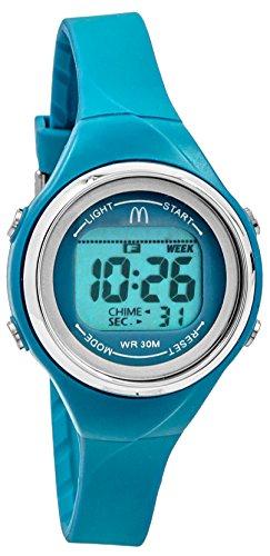 MCDONALD S Sportech Damen blau duenn Band Wasserdicht Schwimmen Sport Armbanduhr mdw10708