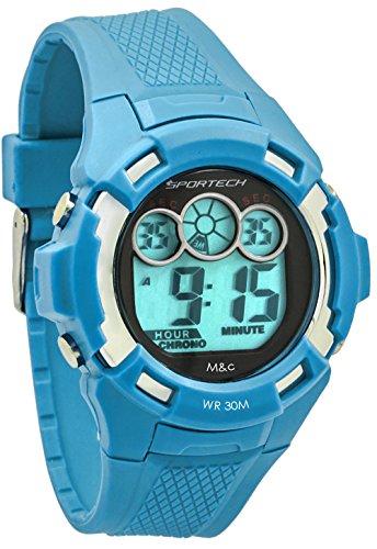 Sportech Unisex blau Extreme Racer Digital Sport Armbanduhr sp10610
