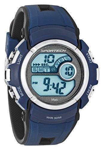 Sportech Unisex Marineblau Digital Sport Armbanduhr sp10113