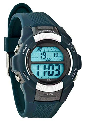 Sportech Unisex Marineblau Digital Sport Armbanduhr sp10803