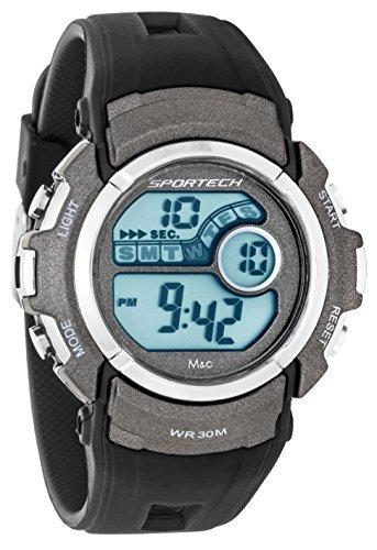 Sportech Unisex schwarz Digital Sport Armbanduhr sp10115