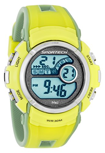Sportech Unisex gelb Mint Digital Sport Armbanduhr sp10114