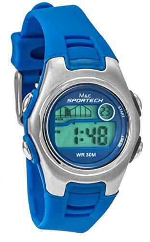Sportech Unisex blau Racer Digital Sport Armbanduhr SP10213