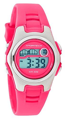 Sportech Unisex hell rosa Racer Digital Sport Armbanduhr sp10219