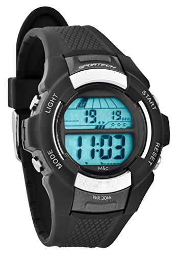 Sportech Unisex grau Digital Sport Armbanduhr sp10801