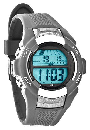 Sportech Unisex grau Digital Sport Armbanduhr sp10802