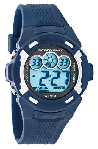 Sportech Unisex zeigt Sport digitale blau marineblau und Silber sp10611