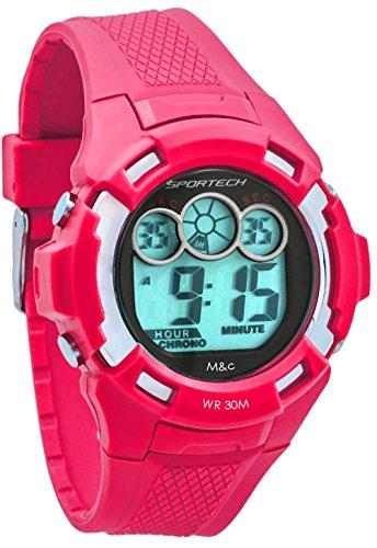 Sportech Unisex Pink Extreme Racer Digital Sport Armbanduhr sp10609