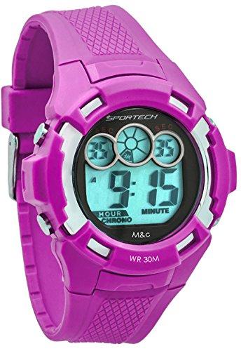 Sportech Unisex violett Extreme Racer Digital Sport Armbanduhr sp10608