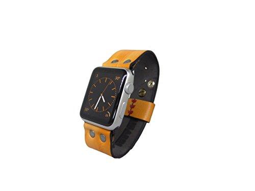 Minardi Italian Handmade Armband Apple Watch Gelb Groesse M