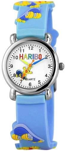 """HARIBO KinderuhrLernuhr """"Skateboard"""" mit Kautschukband und praezisem Quartz ETA Laufwerk 406123500006"""