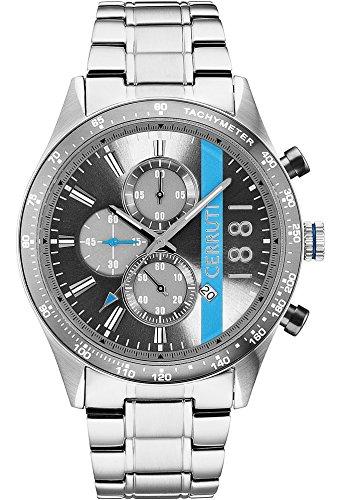 Armbanduhr Herren Cerruti 1881 La Spezia Armband Metal Silber Chronograph und Tachometer cra121sn13ms
