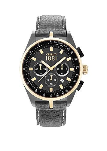 Armbanduhr CERRUTI 1881 Leder Herren 44 mm