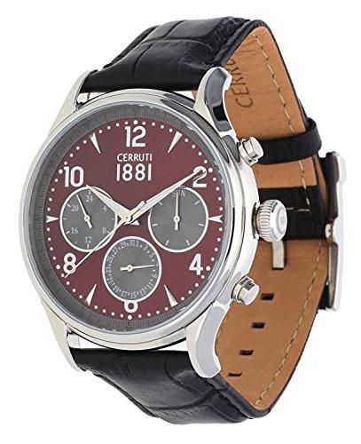 Cerruti Herren Armbanduhr Bellagio Schwarz CRA107SN10BK