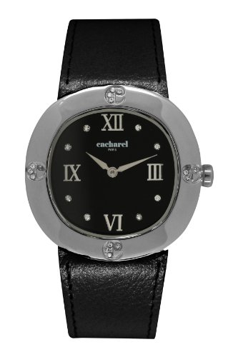 Cacharel Damen Armbanduhr Analog Quarz Leder CLD 006 AA