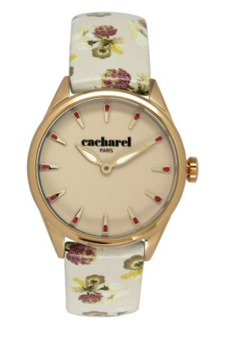 Cacharel Damen Armbanduhr Analog Quarz Leder CLD 012 1XX