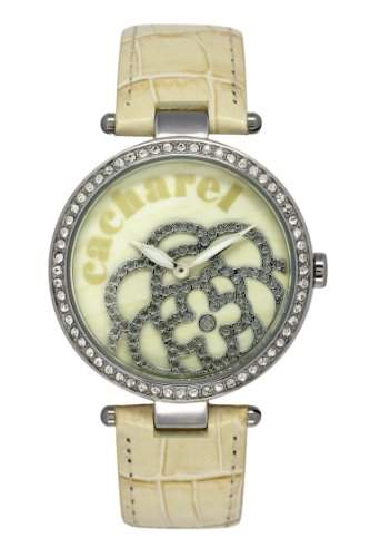 Cacharel Damen-Armbanduhr Analog Quarz Leder CLD 001S-XX