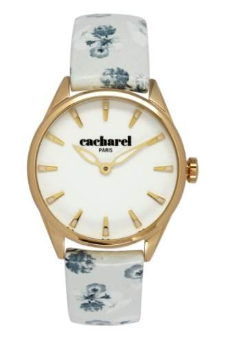 Cacharel Damen-Armbanduhr Analog Quarz Leder CLD 012-1BB