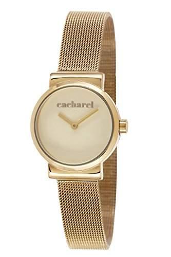 CLD 1EM044 Cacharel Damen-Armbanduhr Alyce Quarz analog Stahl goldfarben beschichtet