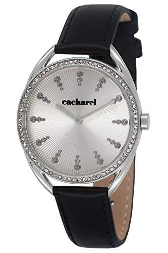 CLD 050SFA Cacharel Damen-Armbanduhr Lolla Quarz analog Leder Schwarz