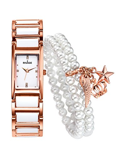 Damen 2tlg Set Uhr mit Armband by Rivage