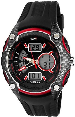 Armbanduhr OCEANIC F1 Carbon LCD Analog WR100M fuer Herren mit vielen Funktionen O9302 2