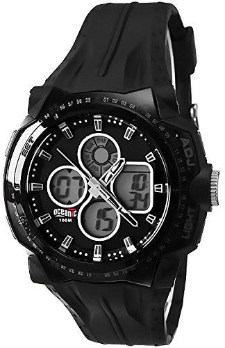 Digital analog OCEANIC Forza Armbanduhr fuer Herren WR100m Timer Alarm Stoppuhr OA911AD 1