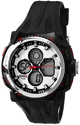 Digital analog OCEANIC Forza Armbanduhr fuer Herren WR100m Timer Alarm Stoppuhr OA911AD 2