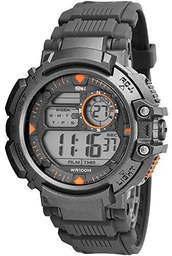 Digital sportliche OCEANIC Armbanduhr fuer Ihn Stoppuhr 3x Alarm Timer WR100m ODM6180 2