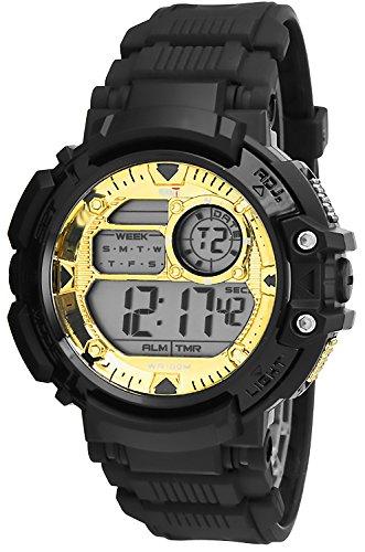 Digital sportliche OCEANIC Armbanduhr fuer Ihn Stoppuhr 3x Alarm Timer WR100m ODM6180 1