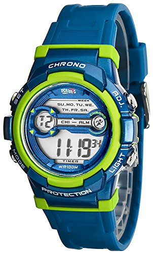 Digitale Kinderarmbanduhr OCEANIC mit Alarm Datum Stoppuhr WR100m ON4R136 1