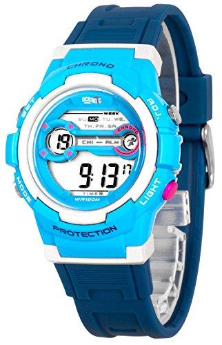 Digitale Kinderarmbanduhr OCEANIC mit Alarm Datum Stoppuhr WR100m ON4R136 3