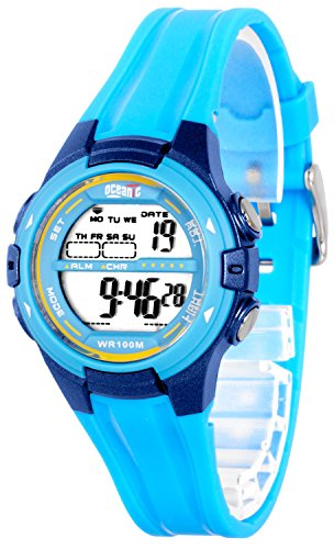Digitale OCEANIC Armbanduhr fuer Damen Kinder WR100m 3xAlarm Stoppuhr Timer ODK1709 1