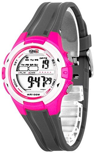 Digitale OCEANIC Armbanduhr fuer Damen Kinder WR100m 3xAlarm Stoppuhr Timer ODK1709 2