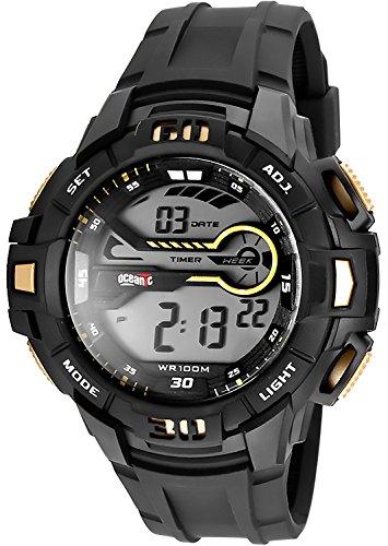 Digitale OCEANIC Armbanduhr fuer Herren und Teenager WR100m nickelfrei OD818 1