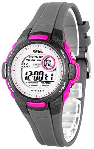 Elektronische OCEANIC Armbanduhr fuer Damen und Kinder WR100m nickelfrei ODKW8722 1