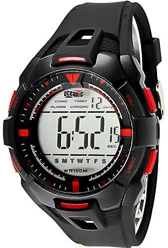 Grosse Herren Teenager OCEANIC Armbanduhr viele Funktionen WR100m 8101M