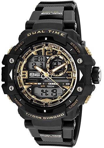 Herren OCEANIC Dragon Armbanduhr analog digital WR100m Timer 5xAlarm Stoppuhr OM931 1