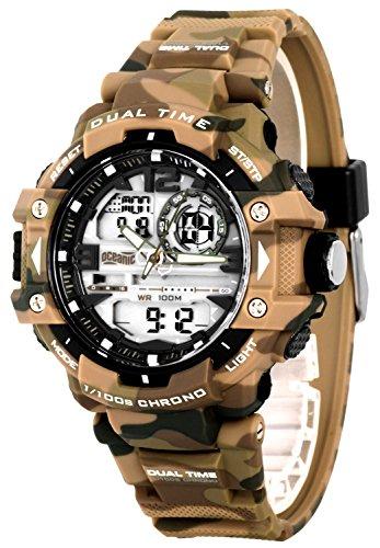 Herren OCEANIC Dragon Armbanduhr analog digital WR100m Timer 5xAlarm Stoppuhr OM931 4