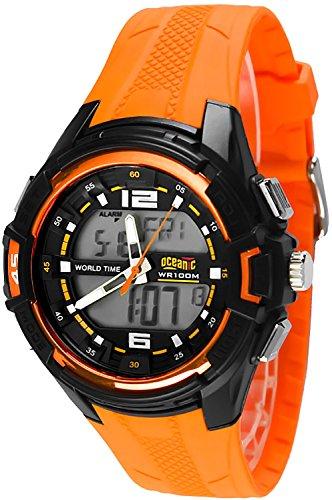 Unisex OCEANIC SENTRY digital analog Timer 2x Alarm Stoppuhr WR100m nickelfrei OC510DA 2