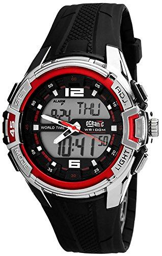 Unisex OCEANIC SENTRY digital analog Timer 2x Alarm Stoppuhr WR100m nickelfrei OC510DA 3