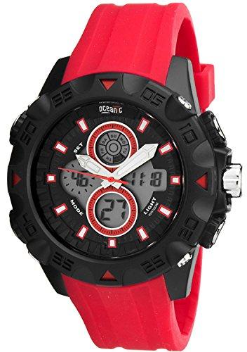 Grosse sportliche OCEANIC Unisex WR100m Timer Alarm Stoppuhr OM4180 2