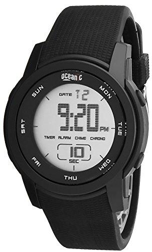 Sportliche Universelle Armbanduhr OCEANIC 100WR Farbe Schwarz