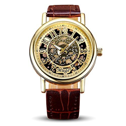 Geniessen Uhr Armbanduhren Wasserdicht Leuchtzeiger fuer Urlaub Hohl 1