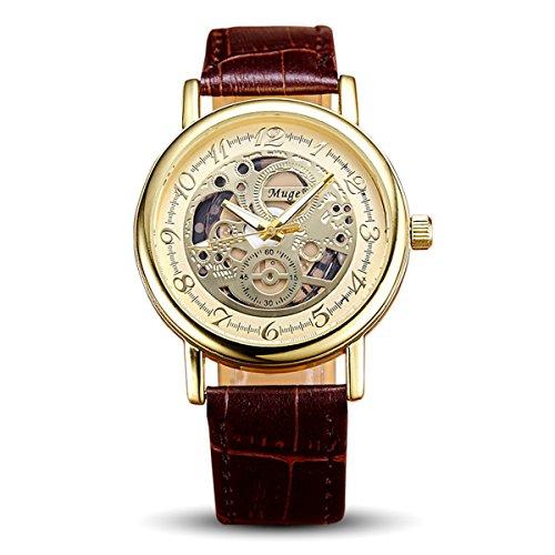 Geniessen Uhr Armbanduhren Wasserdicht Leuchtzeiger fuer Urlaub Hohl 3