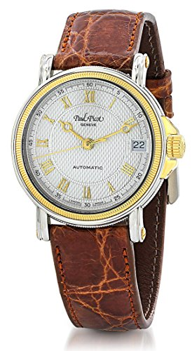Paul Picot Atelier Automatic Stainless Steel 18kt Gold Womens Luxury Strap Watch Calendar 5039