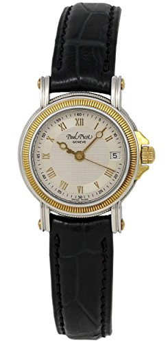 Paul Picot Atelier Quartz Stainless Steel 18kt Gold Womens Luxury Strap Watch Calendar 5013
