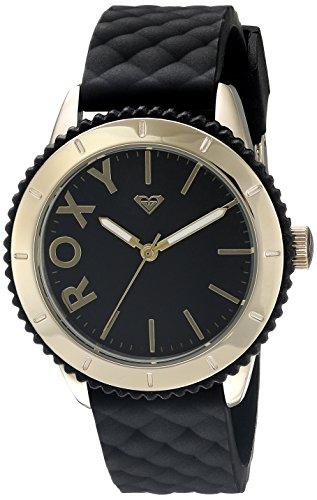 Roxy Damen Armbanduhr The Del Mar Analog Silikon Schwarz RX 1013BKRG