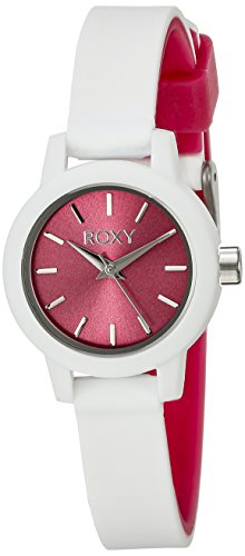 Roxy Damen Armbanduhr The Monica Analog Silikon Weiss RX 1016PKWT