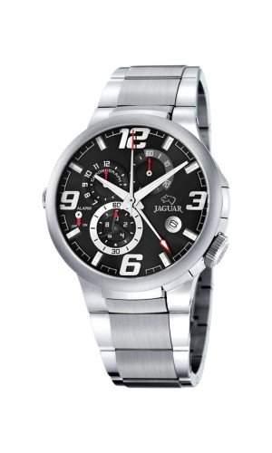 Jaguar J1201C Herrenuhr Chronograph Edelstahlband Stoppuhr Analog Datum